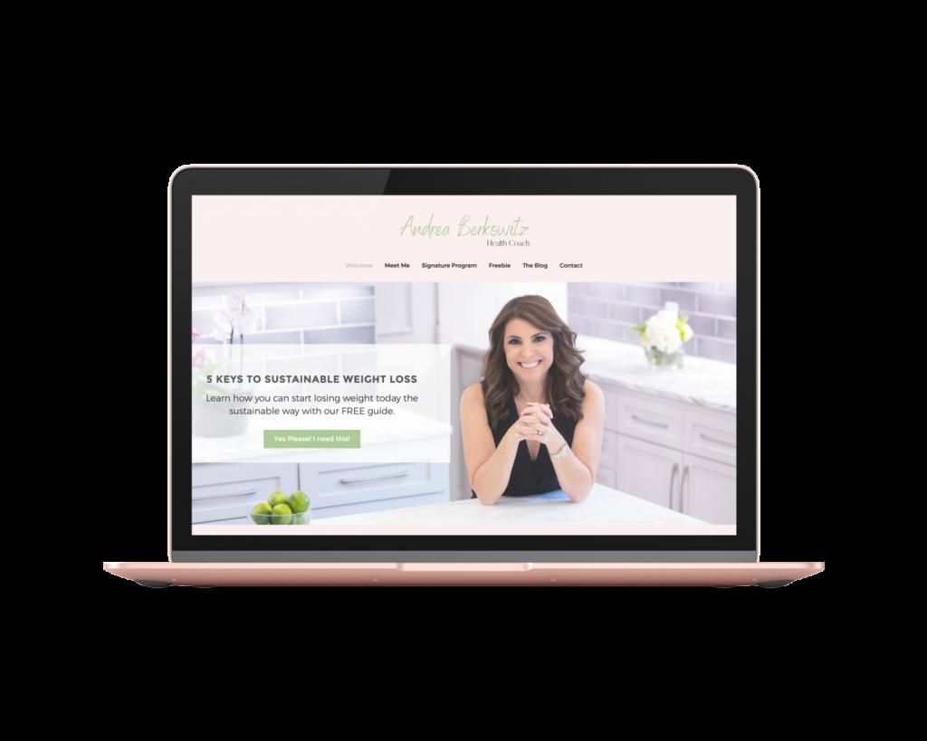 Andrea, Beautiful Health Coaching Website mac