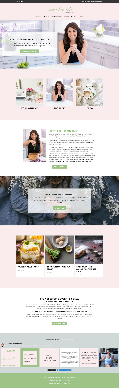 Andrea, Beautiful Health Coaching Website