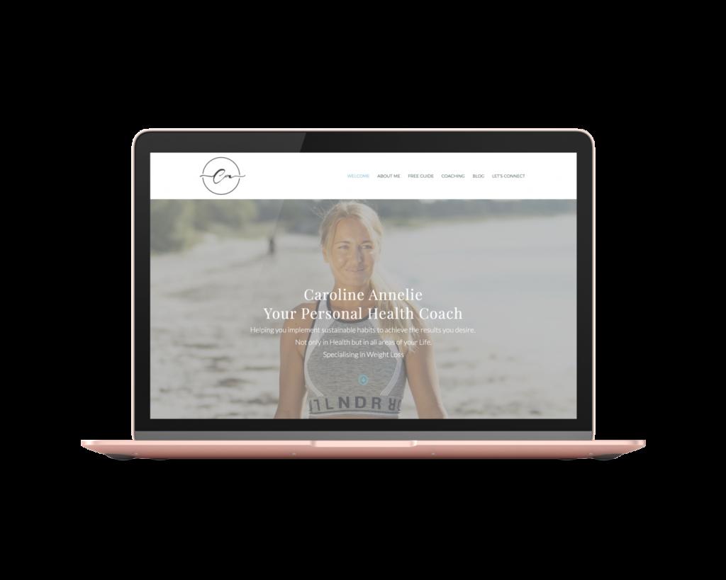 Health Coach website template Caroline A