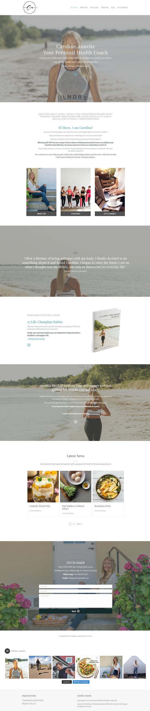 Health Coach website template Caroline A portfolio