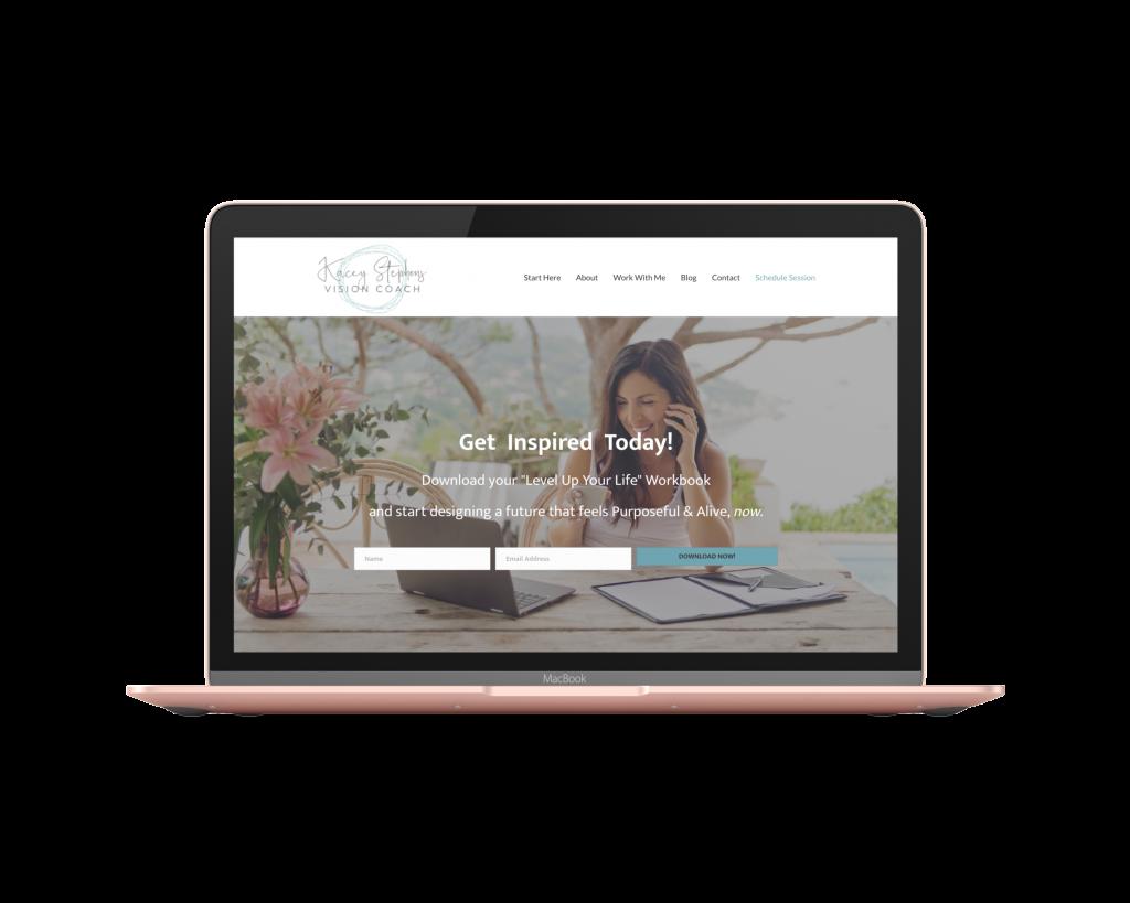 Kacey Life Coaching Website Design Mockup