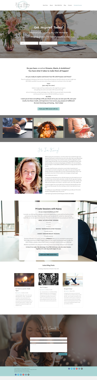 Kacey Life Coaching Website Design