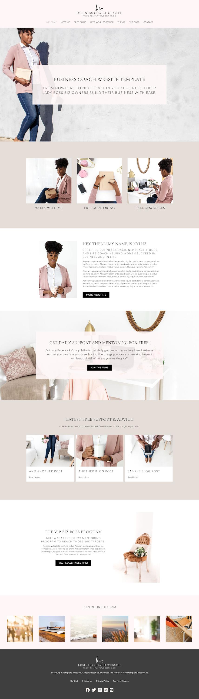 business coach template website design home coaching website template