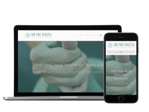 Peaceful One Page Website Template for Coaches