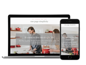 One Page Simplicity Website Template - simple one page website template design double