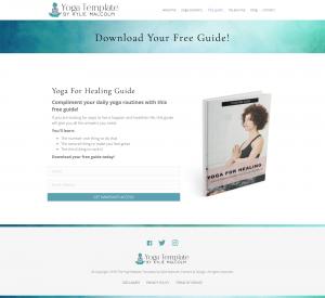 The Yoga Website Template Freebie Page