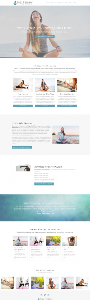 The Yoga Website Template Home Page