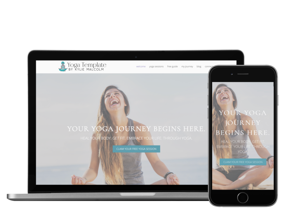 The Yoga Website Template Mockup