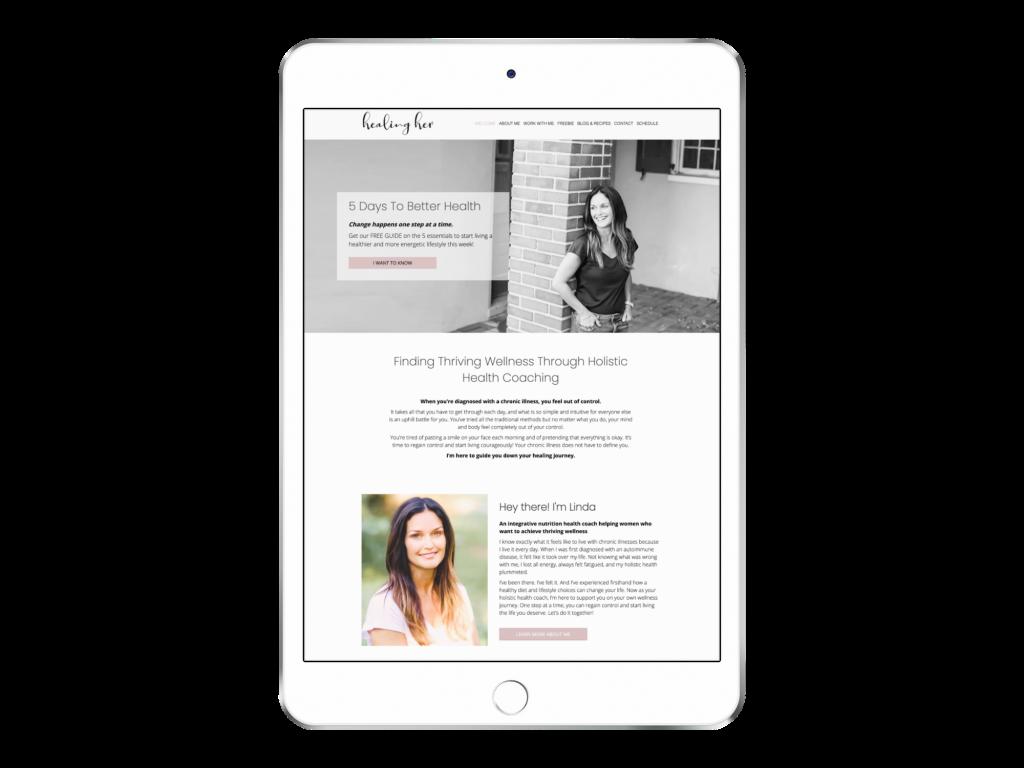 Holistic Health coach website design