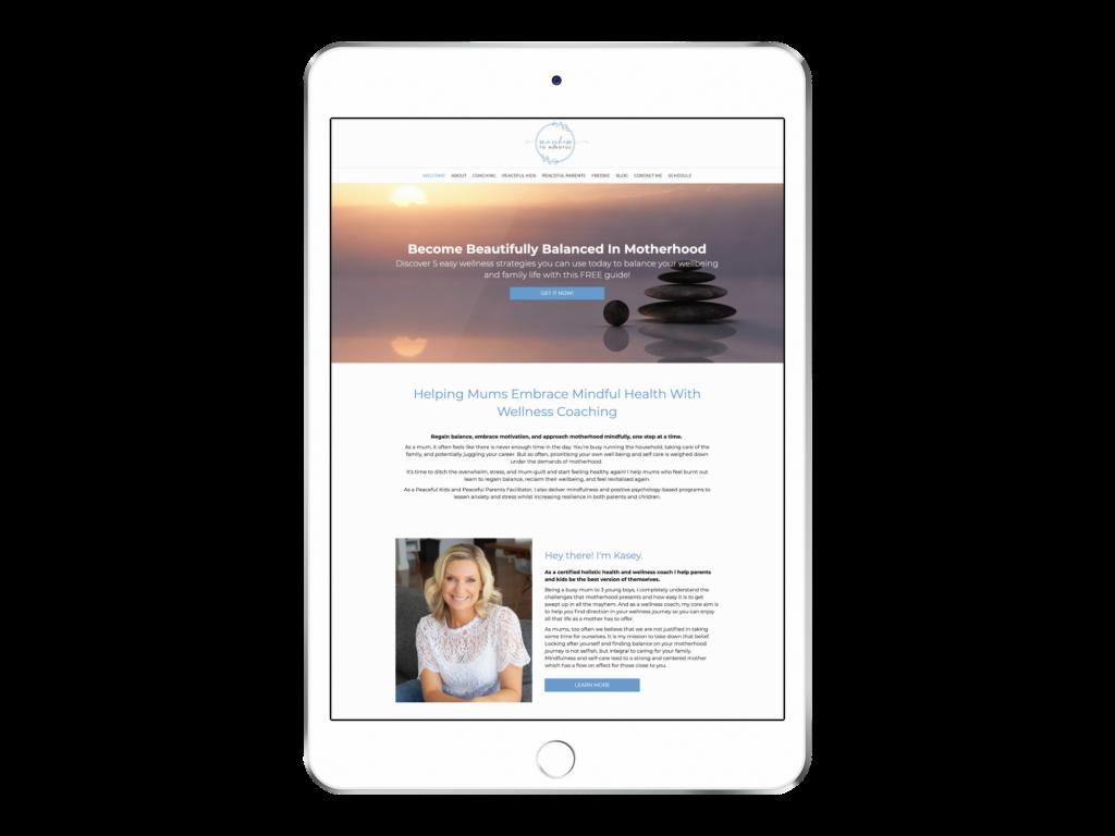 Kacey Health Coach Website Design