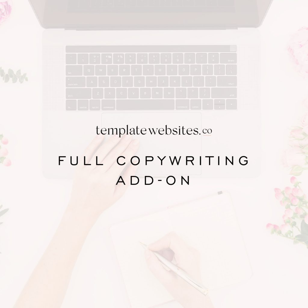 CopyWRITING add on for template websites coach