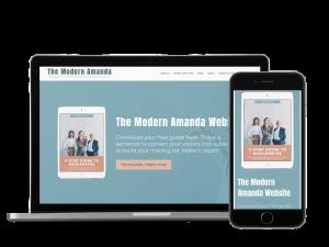 The Amanda Modern Website Template