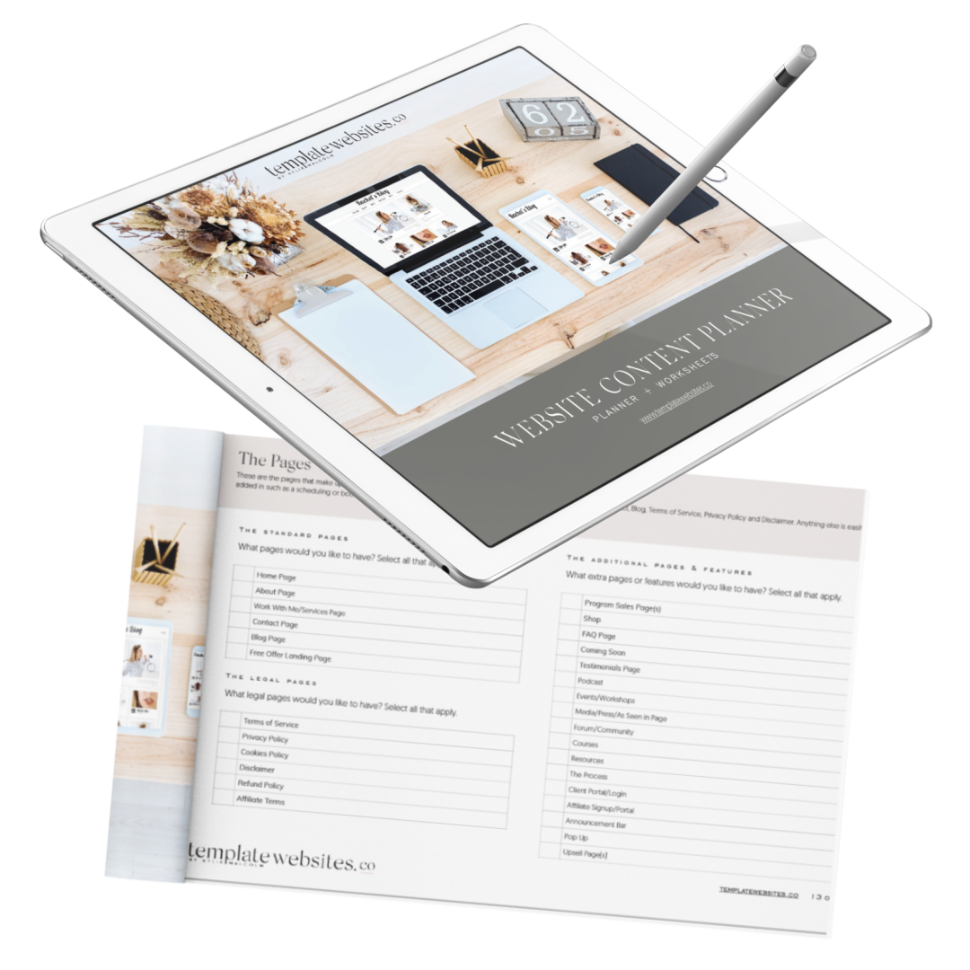 Free Website Content Planner - template websites free offer